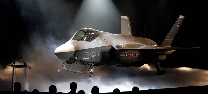 The F-35 Joint Strike Fighter being shown off in Texas. (Image: AP)