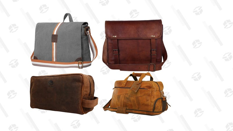 Leather Bags for Men & Women Gold Box | Amazon