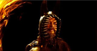Illustration for article titled New Immortals character posters show off Mickey Rourke's violent bunny helmet