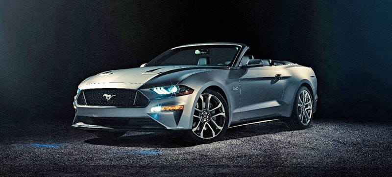 Ford Unexpectedly Took The Cover Off Of 2018 Mustang Convertible Today Once More Not At An Auto Show Showing What Drop Top Version