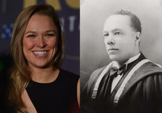 Ronda Rousey; Rousey's great-grandfather Dr. Alfred E. WaddellPAUL CROCK/AFP/Getty Images; Wikipedia