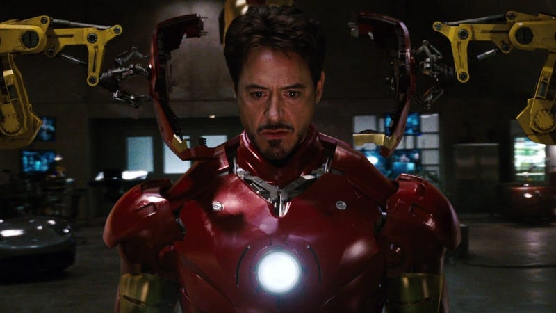 Robert Downey Jr. in Marvel's first Iron Man film.