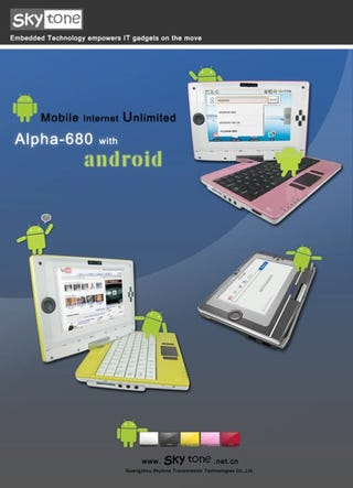 Illustration for article titled Alpha 680, The First Android Netbook Priced At $250