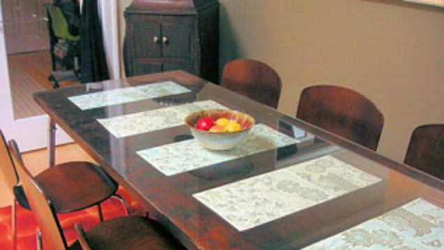 Diy door to dining room table conversion for Q significa dining room