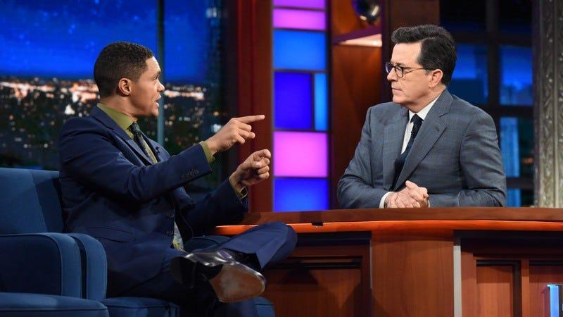 Trevor Noah, Stephen Colbert (Photo: Scott Kowalchyk/CBS)