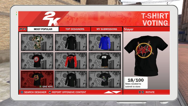 Illustration for article titled NBA 2K18 Is Taking Down Custom Shirts Depicting Real Brands, To Players' Dismay