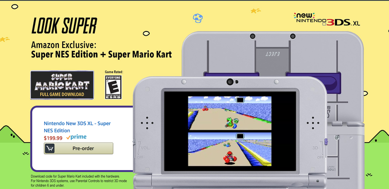 New 3DS XL + Super Mario Kart | $150 | Amazon