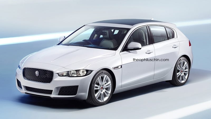Illustration for article titled Jaguar XD Rendered To Take On 1-Series, A-Class Hatchbacks