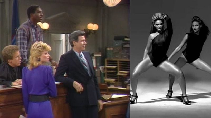 "Illustration for article titled Here's Beyonce's ""Single Ladies"" mashed up with the Night Court theme, just because"