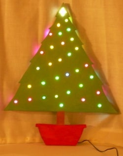 build a wooden christmas tree with led ornaments - Wooden Led Christmas Decoration