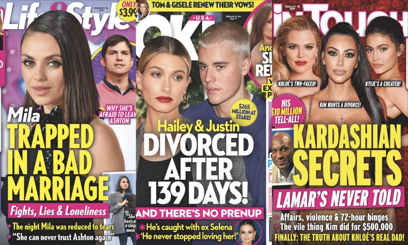 Illustration for article titled This Week In Tabloids: Are Justin & Hailey Bieber Proof That Heterosexuality Should Be Illegal?