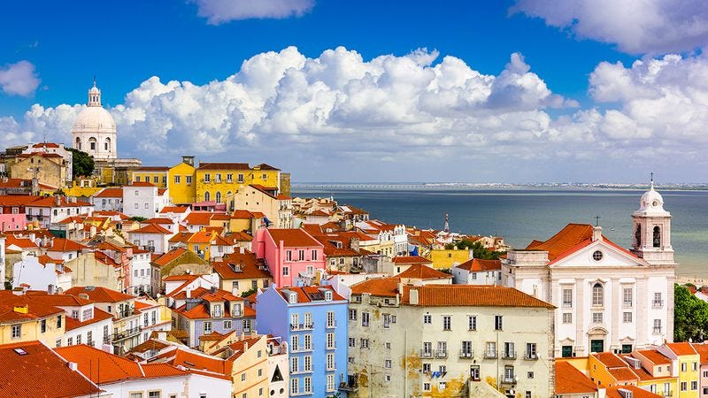 The city of Lisbon