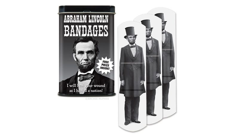 Illustration for article titled These Abe Lincoln Band-Aids Will Heal You Like He Healed Our Nation