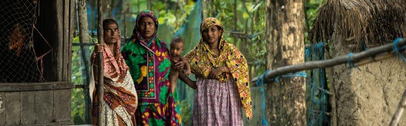 Women in Gabura, southern Bangladesh. Source: Environmental Justice Foundation
