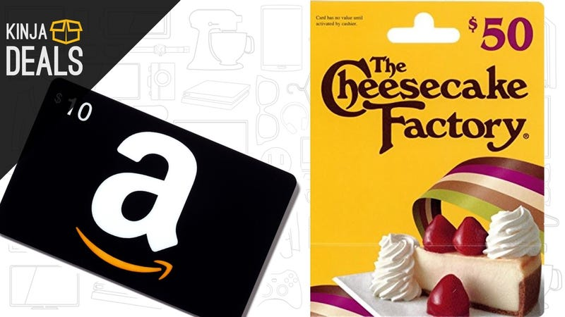Illustration for article titled Buy a $50 Cheesecake Factory Gift Card, Get a Free $10 Amazon Credit