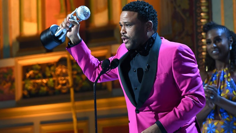 Actor Anthony Anderson accepts award for Outstanding Actor in a Comedy Series for Black-ish at the 48th NAACP Image Awards at Pasadena Civic Auditorium on Feb. 11, 2017, in Pasadena, Calif. (Marcus Ingram/Getty Images for NAACP Image Awards)