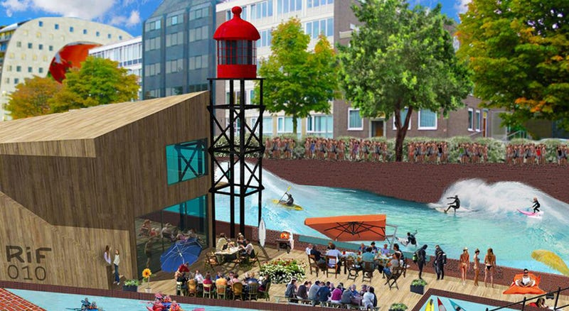 Illustration for article titled This Canal in the Netherlands Will Soon Be a Water-Purifying Wave Pool