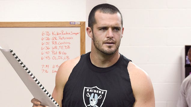 Derek Carr Distraught After Reading 'Hard Knocks' Script Where He Stabs Antonio Brown In Season Finale