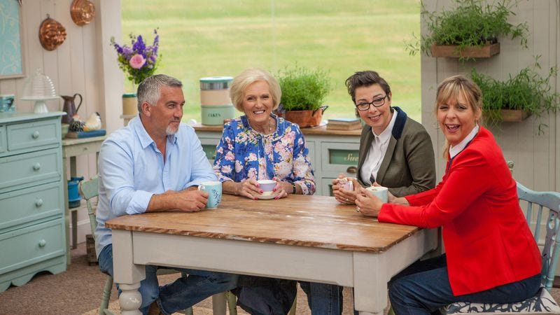 Paul Hollywood, Mary Berry, Sue Perkins, and Mel Giedroyc (Photo: PBS)