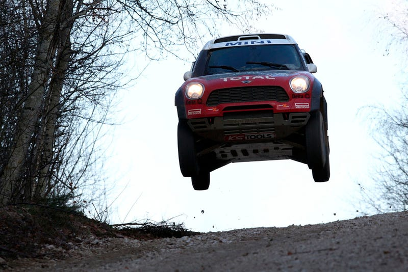 Illustration for article titled X-Raid's Dakar Rally-Ready Mini is One Angry Bird
