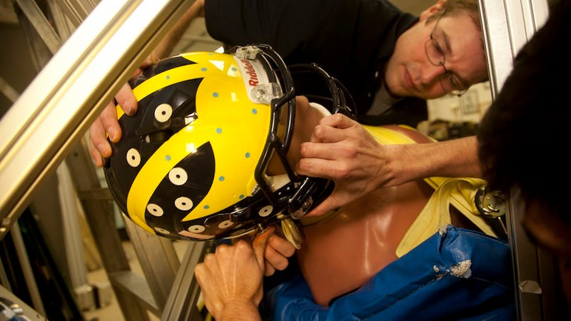 Illustration for article titled Engineers Are Tracking Football Helmet Data to Study Head Injuries