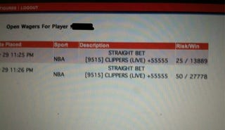 Illustration for article titled This Guy Bet On The Clippers When They Were Down Big And Turned $75 Into $41,000