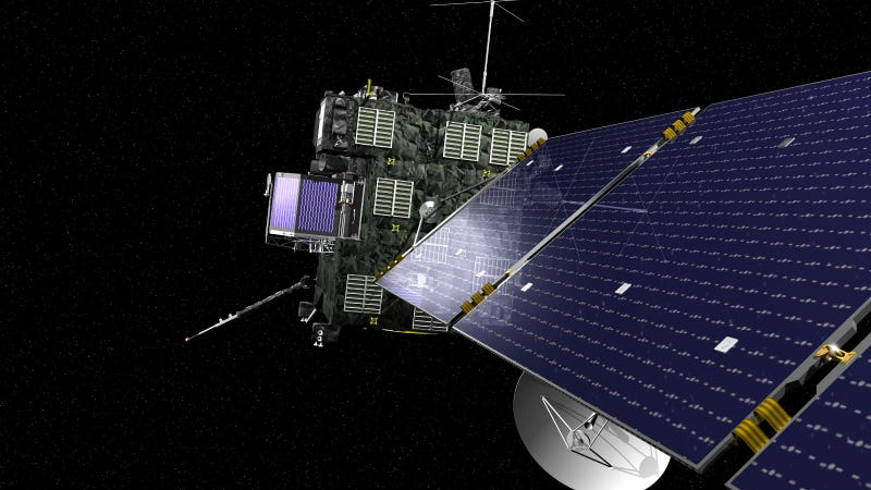 Illustration for article titled The Rosetta Spacecraft Is About to Intercept a Comet Going Mach 47