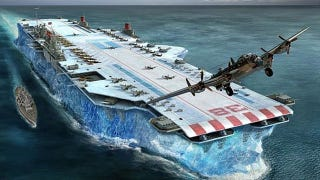 Illustration for article titled Winston Churchill's plan to fight Nazis with massive aircraft carriers made from ice