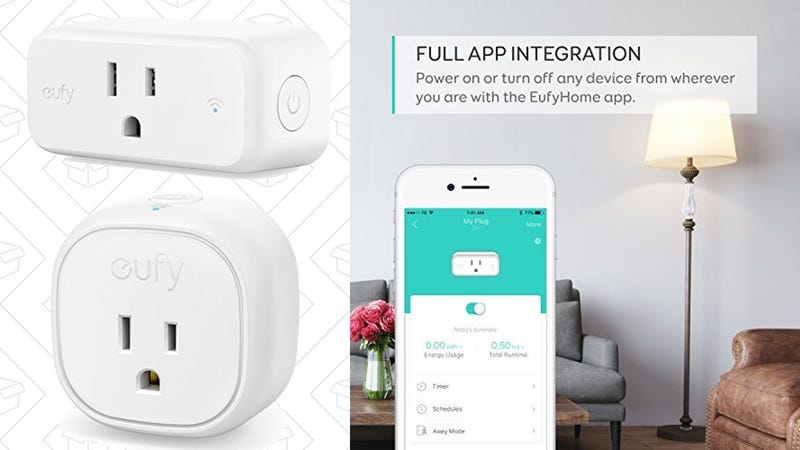 Eufy Smart Plug | $19 | Amazon | Clip the 15% couponEufy Compact Smart Plug | $25 | Amazon | Clip the 15% coupon