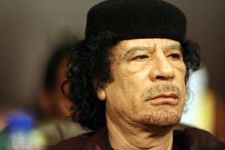 Qaddafi is still coaching from the sidelines. (Google)