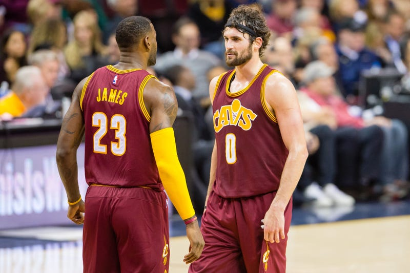Illustration for article titled LeBron James And Kevin Love Have Resolved Their Beef