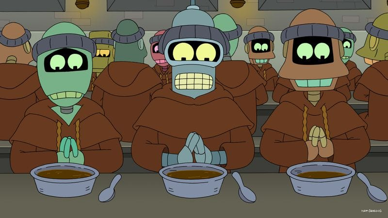 """Illustration for article titled Futurama: """"Free Will Hunting"""""""