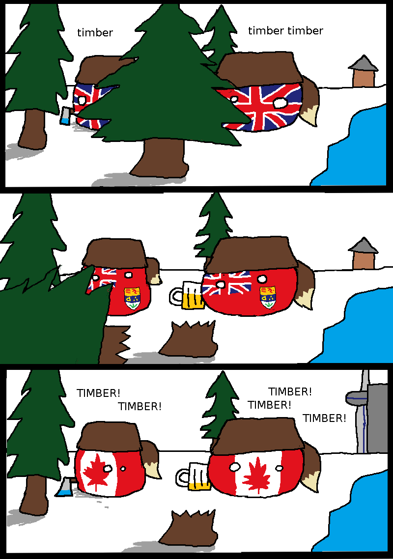 Illustration for article titled Daily Polandball: A brief history of Canada.