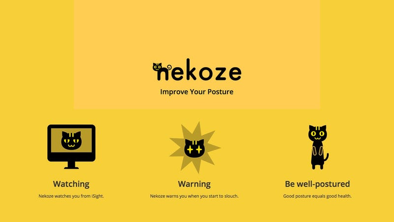 Illustration for article titled Nekoze for Mac Uses an Adorable Cat to Improve Your Posture