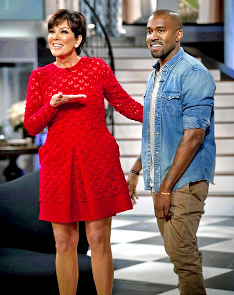 Illustration for article titled Photoshop This Image of Kris Jenner Presenting Kanye, Her Prize Sheep