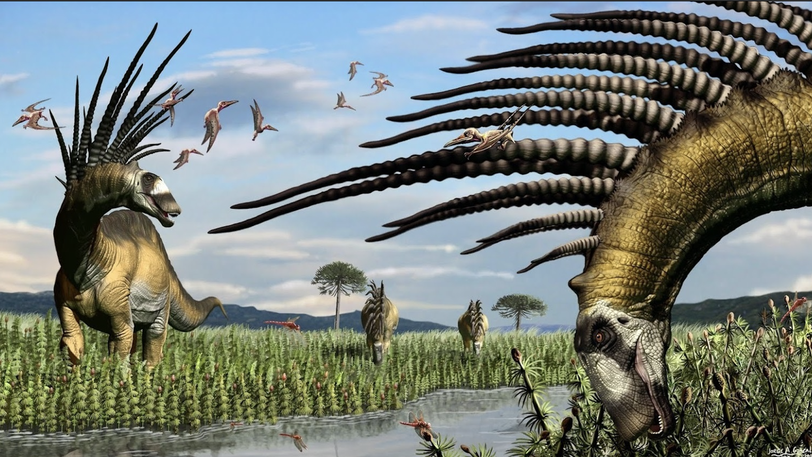 Newly Discovered Spiked Dinosaurs From South America Look Like Creatures From 'No Man's Sky'
