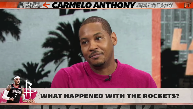 Carmelo Anthony Says He Doesn't Understand Why The Rockets Didn't Want Him Anymore