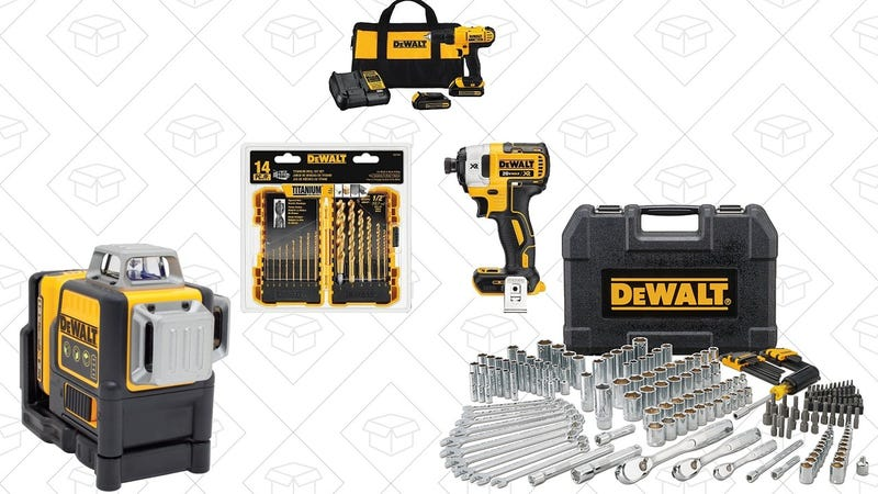 DEWALT Drill/Driver, Impact Driver, Drill Bit Combo | $149 | AmazonDEWALT 205 Piece Mechanics Tool Set | $90 | Amazon DEWALT Laser Line + Tripod | $345 | Amazon