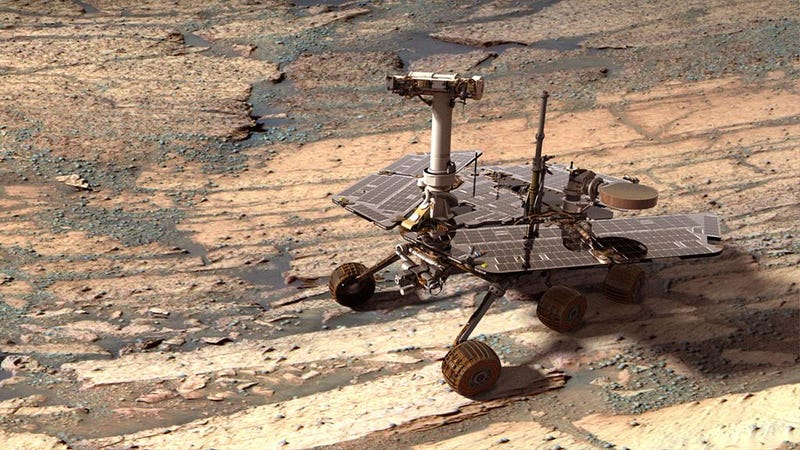 Illustration for article titled 10 Years Ago, Opportunity Rover Began a 90-Day Mission That Never Ended