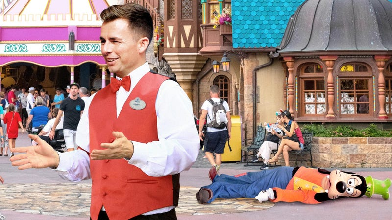 Illustration for article titled Disneyland Employee Hastily Ad-Libs Story About How Much Goofy Loves Napping On The Pavement