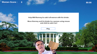Illustration for article titled Yep, You Can Now Play A Game Where Mitt Romney Catches Women In A Binder