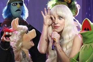 Illustration for article titled Uh. Is anyone else watching this Lady Gaga/Muppets holiday thing?