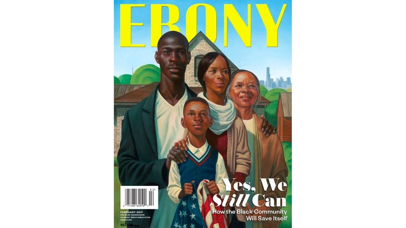 On Wednesday Ebony Magazine Revealed Its February Cover Featuring Some Truly Beautiful Art A Reimagining Grant Woods American Gothic As Black Family