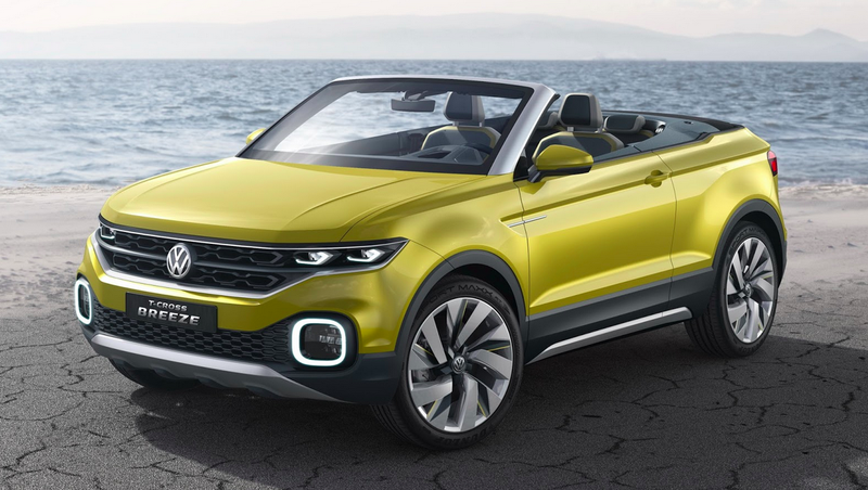 Illustration for article titled The Volkswagen T-Cross Breeze Concept Could Own The Lucrative Convertible SUV Market