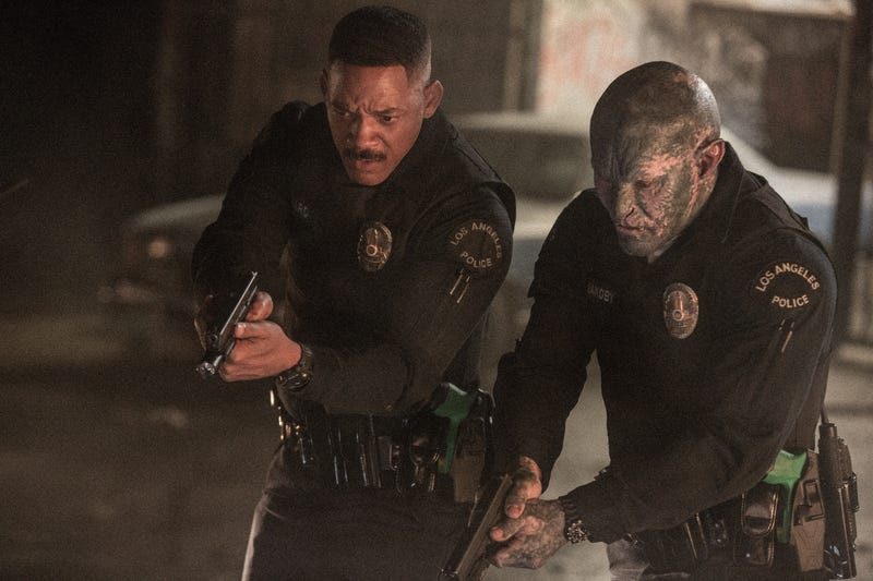 Will Smith as Daryl Ward and Joel Edgerton as Nick Jakoby in the Netflix movie Bright (Mark Kennedy/Netflix)
