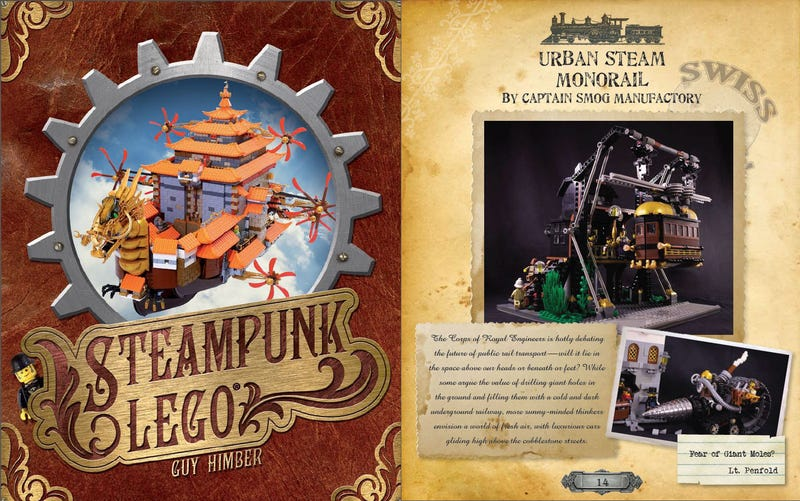 Illustration for article titled Behold! The pages of Steampunk Lego will amaze and delight!