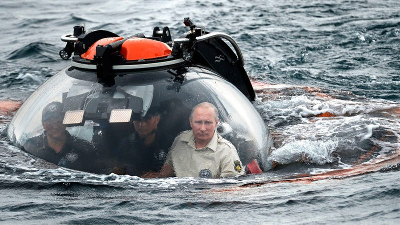 Illustration for article titled Putin Dives Deeper Into Bond Villain Territory, Explores Black Sea In Sub