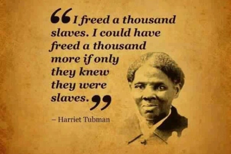 Illustration for article titled This Harriet Tubman Quote That's Going Viral Is Totally Fake