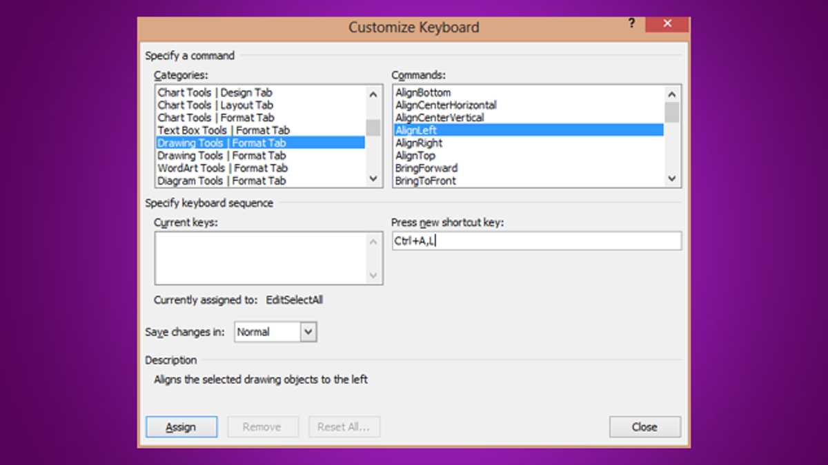 Create your own keyboard shortcuts for commands in microsoft word biocorpaavc Gallery