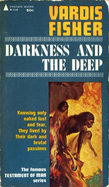 Illustration for article titled Box Of Paperbacks Book Club: Darkness And The Deep by Vardis Fisher (1943)